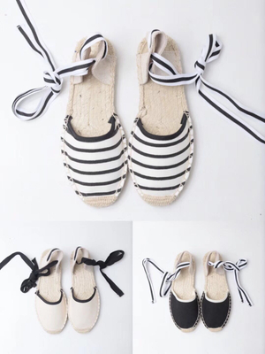Lady Striped Espadrilles