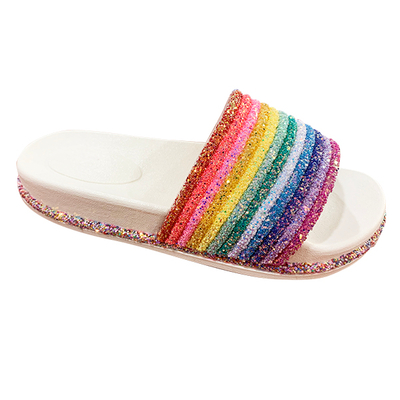 Hot Sale Rainbow Slide Slipper